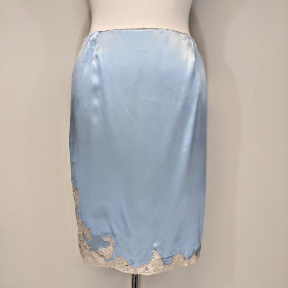 Dkny Dresses & Skirts - DKNY Silk Satin & Lace Skirt